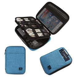 BAGSMART Double-Layer Travel Cable Organizer Electronics Accessories Cases for Cables, iPhone, K ...