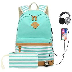Sqoto School Backpack Daypack Shoulder Bag Laptop Bag, Unisex Fashion Rucksack Laptop Travel Bag ...