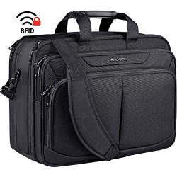 KROSER Premium Laptop Bag 17 Inch Expandable Lightweight Briefcase Large Business Work Bag Water ...