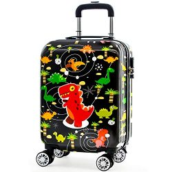 Lttxin Kids' suitcase 18 inch Polycarbonate Carry On Luggage Lovely Hard Shell(upgrade per ...