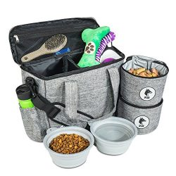 Top Dog Travel Bag – Airline Approved Travel Set for Dogs of All Sizes – Stores All  ...