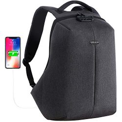 OUTJOY Anti Theft Travel Backpack Waterproof Laptop Backpack for Men Women Lockable Computer Bac ...