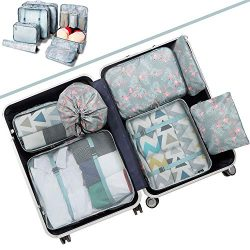 BAGAIL 7-Pcs Lightweight Luggage Packing Organizers Packing Cubes for Travel Accessories