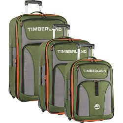 Timberland 3 Piece Expandable Luggage Set, Grape Leaf