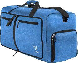 Bago 80L Duffle Bag for Women & Men – 27″ Travel Bag Large Foldable Duffel bag ( ...