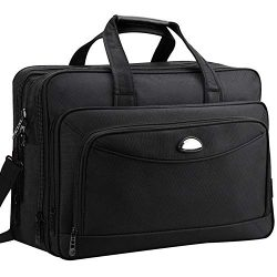 Laptop Briefcase Bag,17 inch Laptop Bag, Expandable Large Briefcases for Men Women, Waterproof D ...