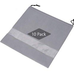 TINTON LIFE Set of 10 Non-woven 19.7″x19.7″ Drawstring Dust Cover Bag with Visual Wi ...