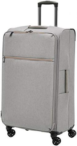 AmazonBasics Belltown Softside Rolling Spinner Suitcase Luggage – 29 Inch, Heather Grey