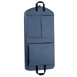 WallyBags Luggage 45″ Extra Capacity Garment Bag with Pockets, Navy