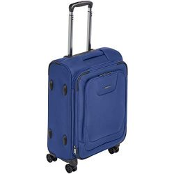 AmazonBasics Expandable Softside Carry-On Spinner Luggage Suitcase With TSA Lock And Wheels R ...