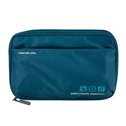 Travelon World Travel Essentials Tech Organizer, Peacock Teal