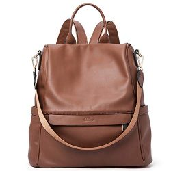 Women Backpack Purse Fashion Leather Large Travel Bag Ladies Shoulder Bags Brown