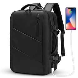 Travel Backpack,WUAYUR 15.6inch Anti Theft Laptop Backpack with USB Charging Port,40L Flight App ...