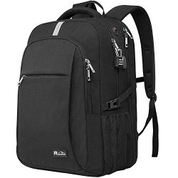 Laptop Backpack with USB Charging Port, Raydem 17.3 Inch Water Resistant Travel School Backpack  ...