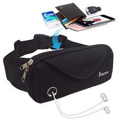 AIKENDO Running Pouch Belt,Workout Fanny Pack Men & Women for iPhone X XR XS 8Plus,Bounce Fr ...