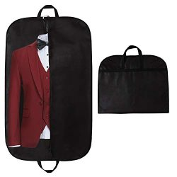Garment Bag, STEVOY 40″ Breathable Travel Suit Covers Carrier Bag with Handles, Foldover