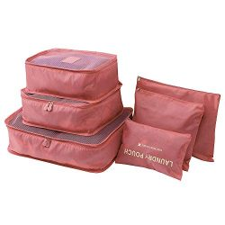 Hot Sale!DEESEE(TM)6pcs Travel Set Clothes Laundry Secret Storage Bag Packing Luggage Organizer  ...