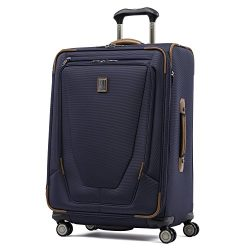 Travelpro Luggage Crew 11 25″ Expandable Spinner Suitcase w/Suiter, Patriot Blue