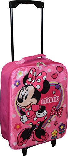 Junior Minnie Mouse 15″ Collapsible Wheeled Pilot Case – Rolling Luggage