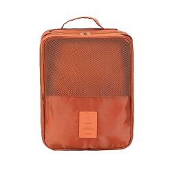 MoreTeam Shoe Storage Bag Holds 3 Pair of Shoes for Travel and Daily Use (Orange)