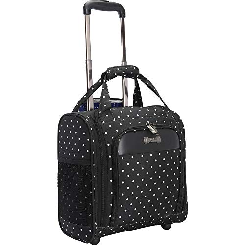Kenneth Cole Reaction Dot Matrix 14″ Lightweight 2-Wheel Underseater Carry-On Luggage, Black