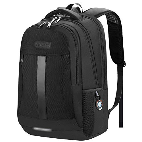 Laptop Backpack, Sosoon Business Bags with USB Charging Port Anti-Theft Water Resistant Polyeste ...