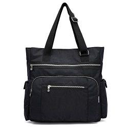 Mfeo Multi Pocket Womens Nylon Adjustable Top-Handle Shoudler Bag Large Capacity Shopping Bag To ...