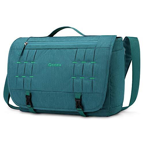 Gonex Messenger Bag Satchel 15 Inch Laptop Shoulder Bag Handbag Briefcase for Men Women for Scho ...