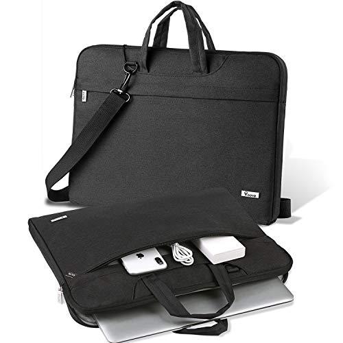 V Voova 17 17.3 Inch Laptop Case Messenger Bag Waterproof Computer Cover Sleeve with Pockets Str ...