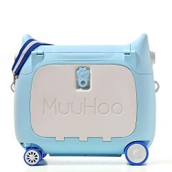 ANIMOR Kids Travel Partner Ride-On Suitcase and Carry-On Luggage, BedBox,Classic Rolling Luggage ...