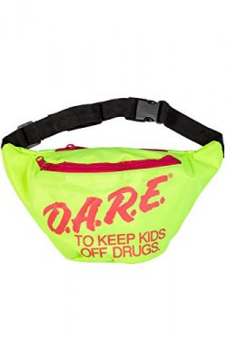 Neon Retro DARE Fanny Pack Waist Bags with Adjustable Waist Straps (Neon Green)