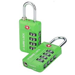 TSA Approved Travel Luggage Locks, Open Alert Combination Lock for School office & Gym Locke ...