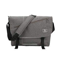 OIWAS Messenger Bag Satchel Leisure Canvas 15 Inch Laptop Shoulder Briefcase Pack Crossbody Back ...