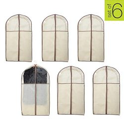 Smart Design Garment Bag w/Clear Window – for Suits. Dresses, Gowns Storage Organization ( ...