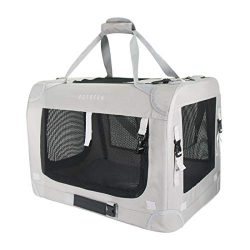 Petseek Extra Large Cat Carrier Soft Sided Small Medium Dog Pet Carrier 24″x16.5″x16 ...