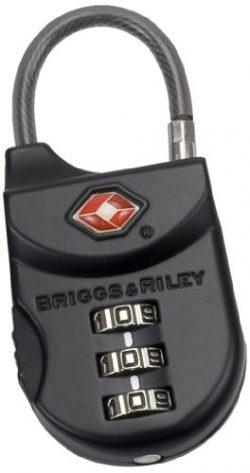 Briggs & Riley Travel Basics Tsa Cable Lock, Black, One Size