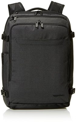 AmazonBasics Slim Carry On Laptop Travel Weekender Backpack – Black