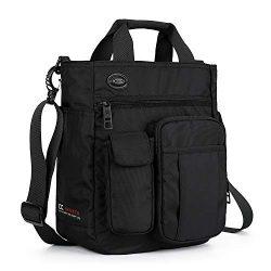 AMJ Small Shoulder Messenger Bag for Men & Women Multifunctional Crossbody Bag Business Lapt ...