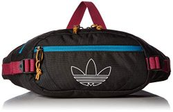 adidas Originals Unisex Utility Crossbody Bag, Black/Active Teal/Berry, ONE SIZE