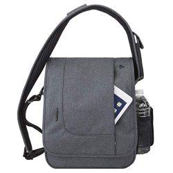Travelon: Anti-Theft Urban N/S Messenger Bag – Slate