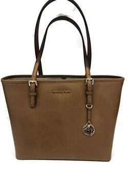 MICHAEL Michael Kors Jet Set Travel Medium Carryall Tote Saffiano Leather – Luggage