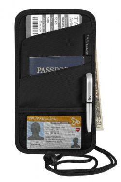 Travelon Id and Boarding Pass Holder, Black, One Size