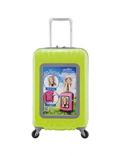 Travelers Club Luggage 20″ Personalized Carry On W/360 Degree 4-Wheel System, Lime