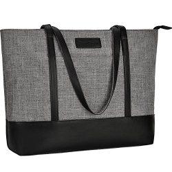 17 inch Laptop Bag for Women,Multi Pockets Large Work Bag,Lightweight Water Resistant Nylon Lapt ...