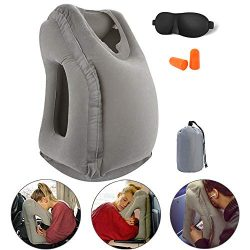 Inflatable Travel Pillow, Travel Accessories for Women and Men, Travel Neck Pillow, Airplane Pil ...