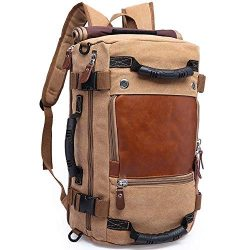 KAKA Backpack Fashion Unisex Travel Backpack Carry-On Bag Flight Approved Weekender Duffle Backp ...