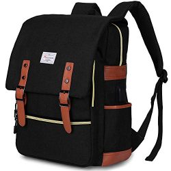 Modoker Vintage Laptop Backpack for Women Men,School College Backpack with USB Charging Port Fas ...