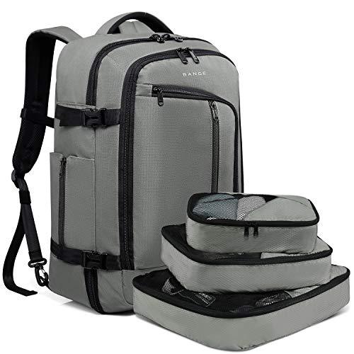BANGE Travel Overnight Backpack,40-Liter FAA Flight Approved Weekender Bag Carry on Backpack GRE ...