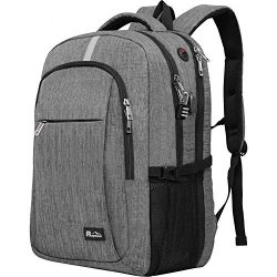 Travel Laptop Backpack with USB Charging Port, Raydem 17.3 Inch Water Resistant School Backpack  ...