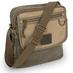 Messenger Bag for Men and Women with Adjustable Strap – 11 inches, Lightweight, Durable Ca ...